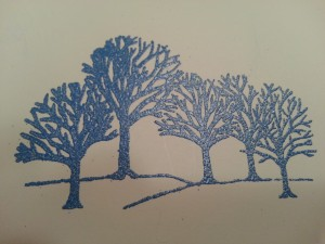 Embossed Trees