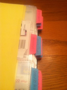 Coupon Book Tabs