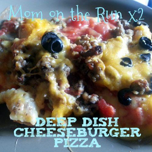deep dish cheeseburger pizza