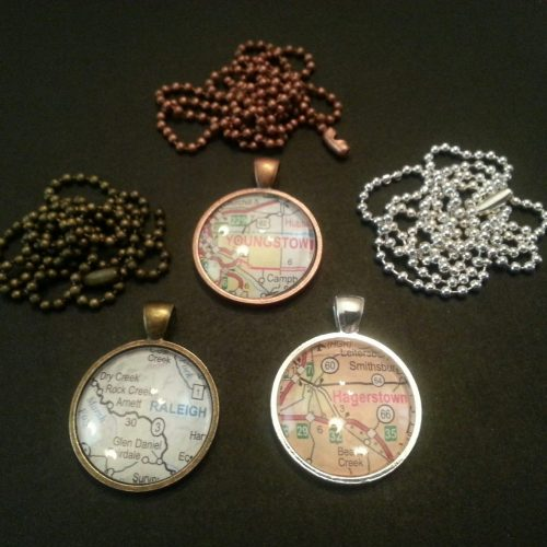 circle map necklace