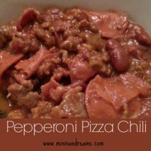 Pepperoni Pizza Chili via Mini Van Dreams