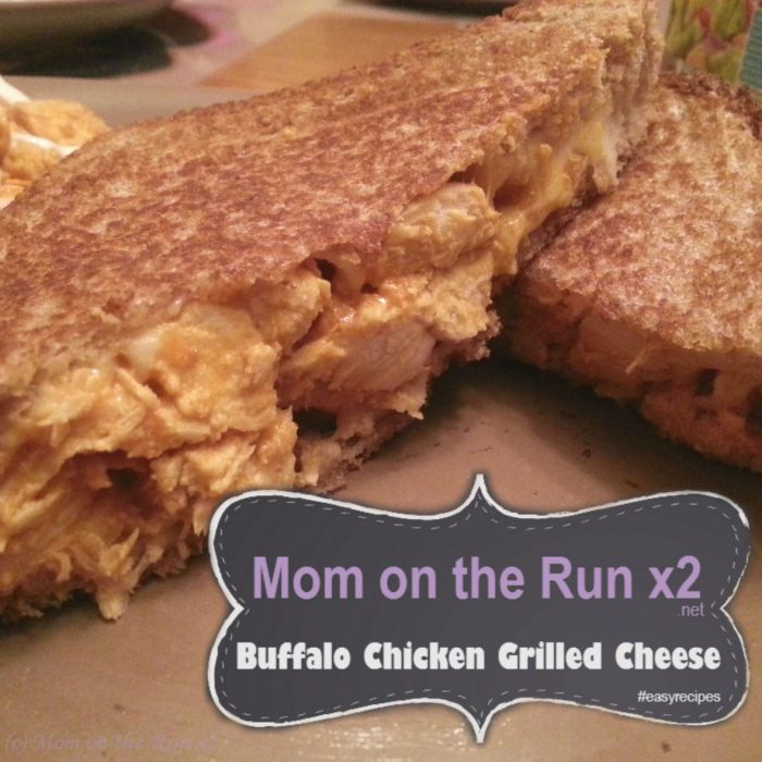 Buffalo Chicken Grilled Cheese Sandwich - Mom on the Run x2