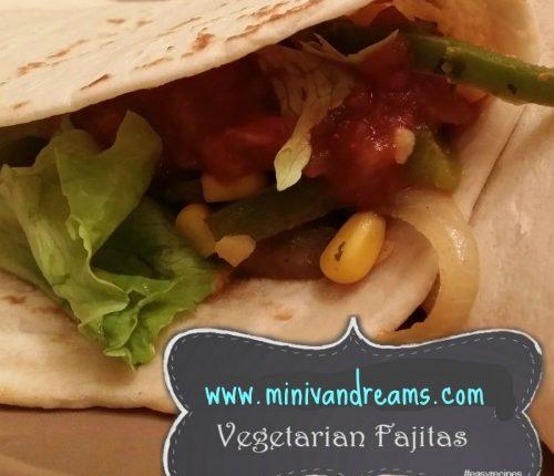Vegetarian Fajitas via Mini Van Dreams
