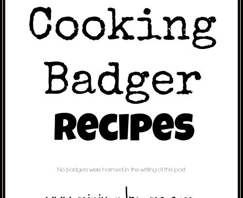 The best way to cook badger! Recipes from my 4 year old twins!