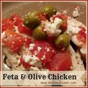 feta and olive chicken via mini van dreams