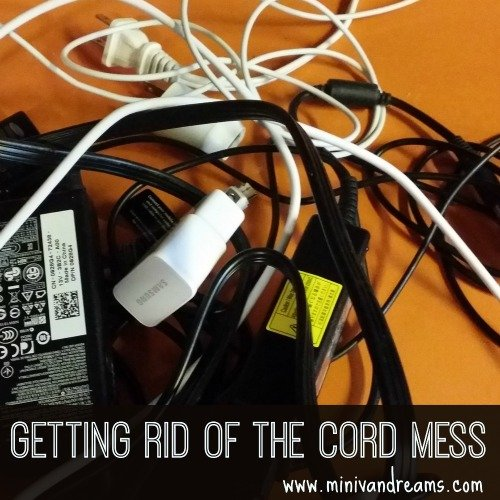 Getting Rid of the Cord Mess via Mini Van Dreams #organization #DIY