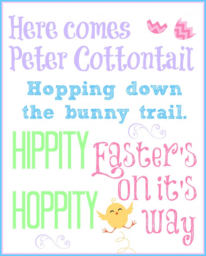 Free Easter Subway Art via Mini Van Dreams #Easter #Easterideas