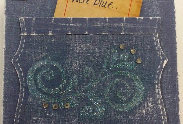 Blue Jean Card via Mini Van Dreams #cardmaking #papercrafts
