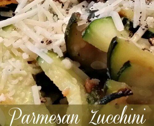 Parmesan Zucchini and Onions via Mini Van Dreams #recipes #easyrecipes #healthy