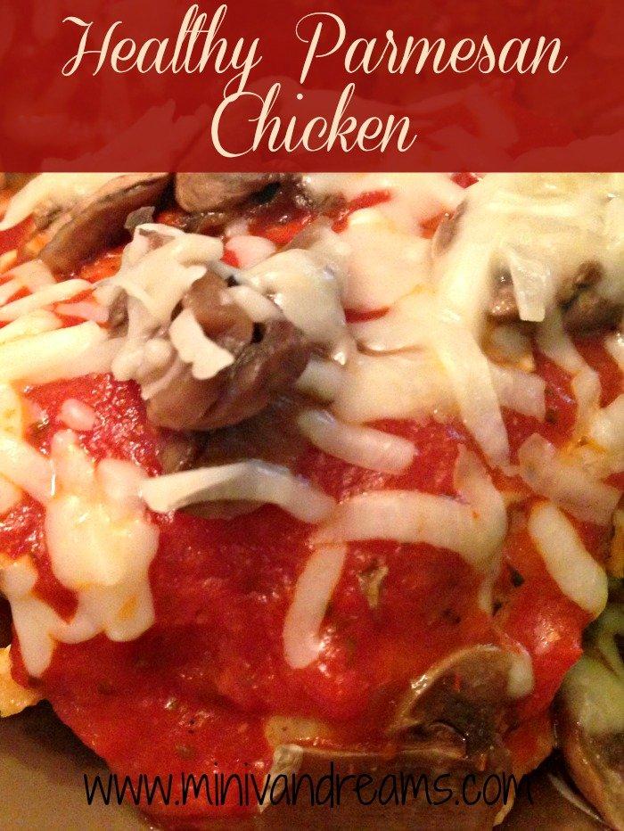 Healthy Parmesan Chicken & TIckle My Tastebuds via Mini Van Dreams