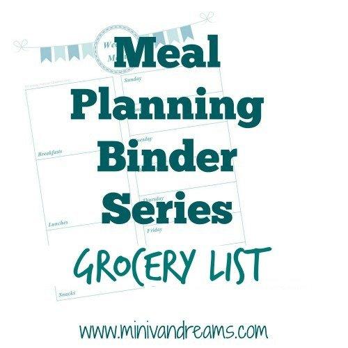 Meal Planning Binder Series: Grocery List - Mini Van Dreams #mealplanning #printables #savingmoney