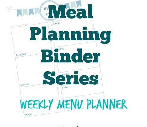 Meal Planning Binder Series: Weekly Menu Planner | Mini Van Dreams #printables #organization #mealplanning