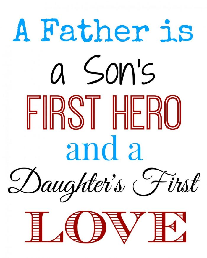 Father's Day Subway Art Free Printable | Mini Van Dreams #fathersday #printable #free
