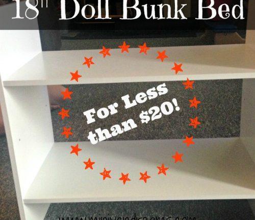 "18"" Doll Bunk Beds | Mini Van Dreams #toys #18""dolls"