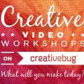 Get Creative with CreativeBug's Craft Classes! via Mini Van Dreams #getcreative #sponsored #review