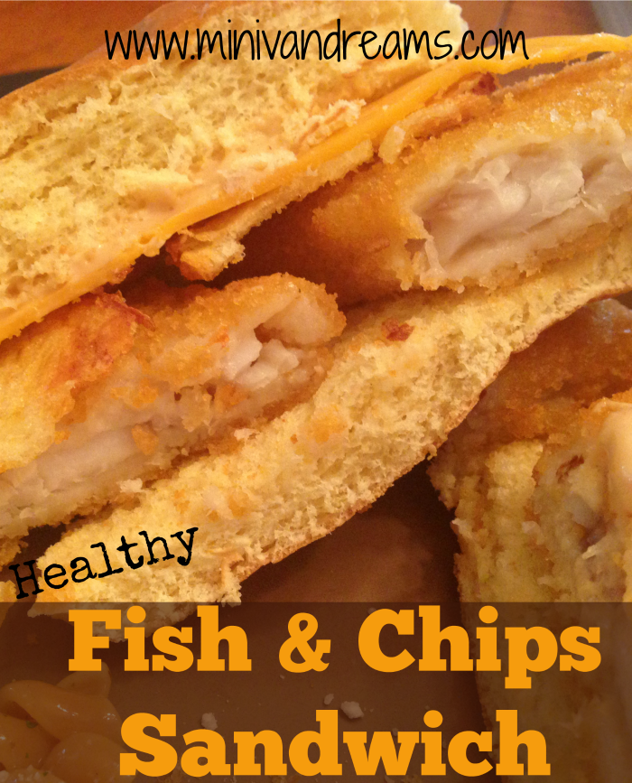 Healthy Fish and Chips Sandwich | Mini Van Dreams #recipes #easyrecipes #recipesforfish #recipesforsandwiches