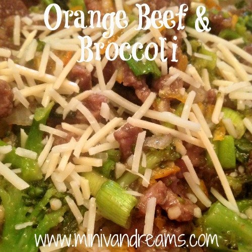Orange Beef with Broccoli | Mini Van Dreams #healthyrecipes #recipes #easyrecipes #recipesforbeef