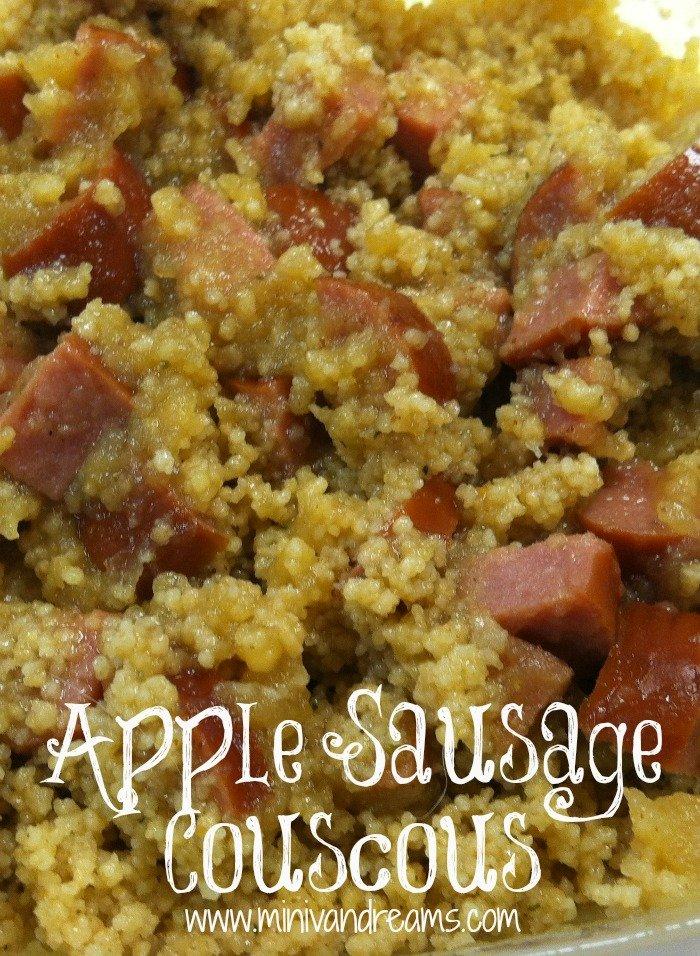Apple Sausage Couscous | Mini Van Dreams #easyrecipes #recipes #ticklemytastebuds