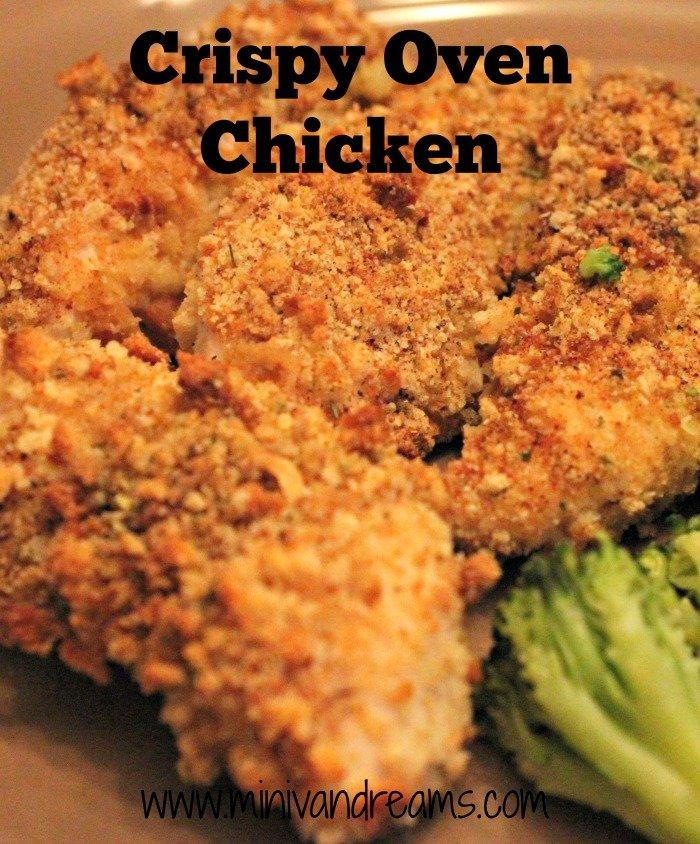 Crispy Oven Chicken | Mini Van Dreams #easyrecipes #recipes #recipesforchicken