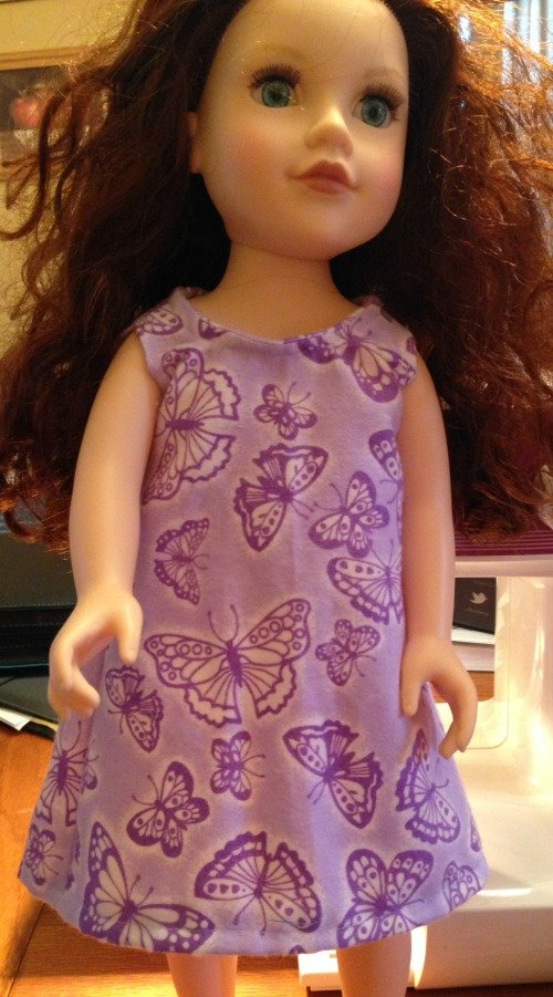 """Nightgown for 18"""" Doll {EASY} 