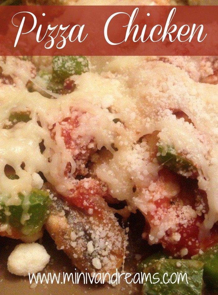 Pizza Chicken | Mini Van Dreams #recipes #easyrecipes #recipesforchicken