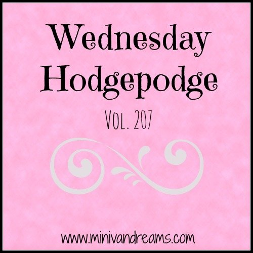 Wednesday Hodgepodge Vol. 207 | Mini Van Dreams