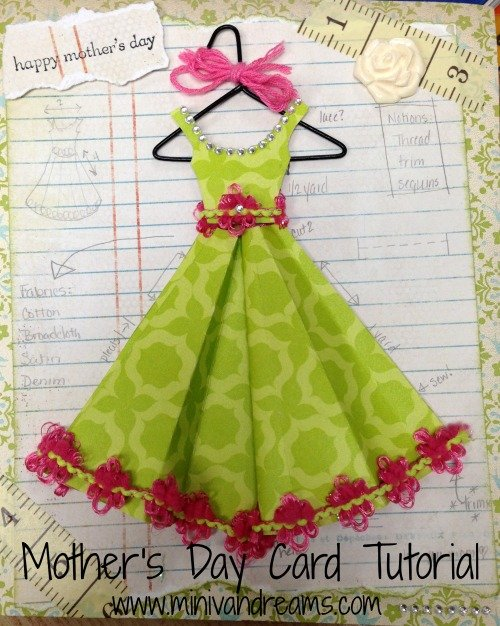 Mother's Day Card for Moms that Sew | Mini Van Dreams