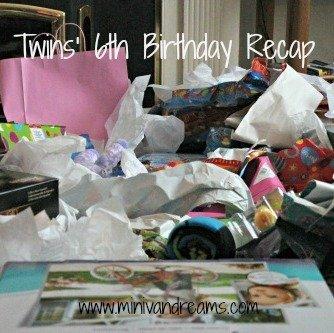 Twins' 6th Birthday Recap | Mini Van Dreams