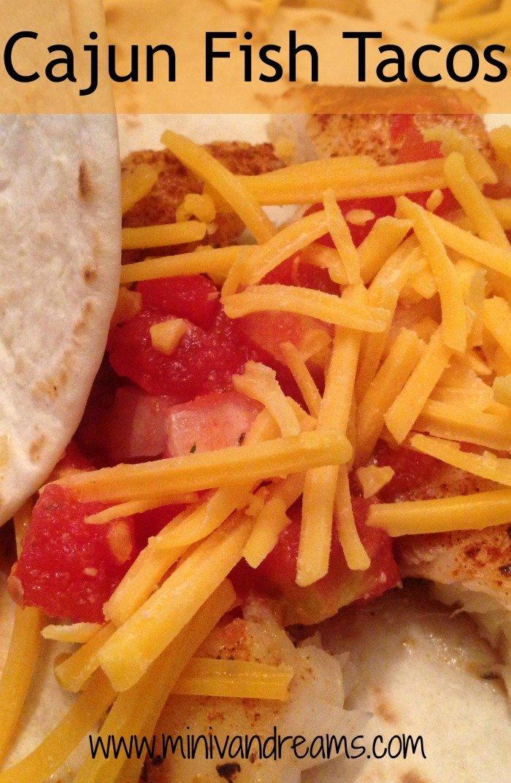 Cajun fish tacos mini van dreams for Cajun fish tacos