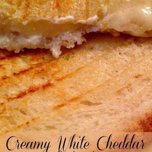 Creamy White Cheddar Grilled Cheese | Mini Van Dreams