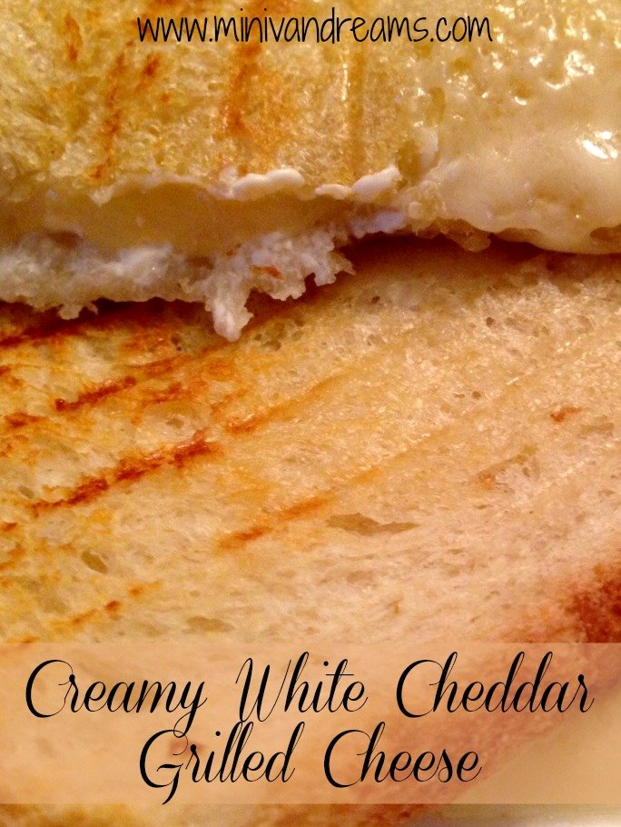 Creamy White Cheddar Grilled Cheese | Mini Van Dreams