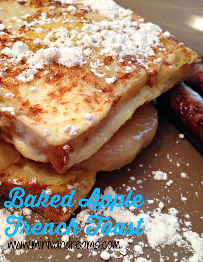 Baked Apple French Toast | Mini Van Dreams