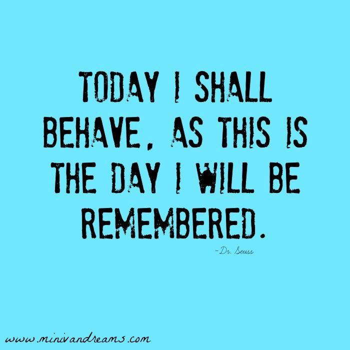 The Day I Will Be Remembered Social Media Badge | Mini Van Dreams