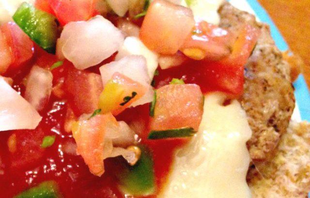 Saucy Turkey Burger with Pico | Mini Van Dreams