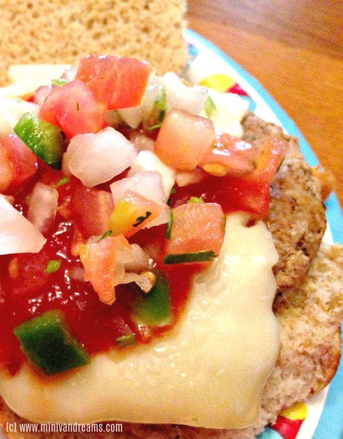 Saucey Turkey Burger with Pico | Mini Van Dreams