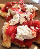 Chicken with Tomatoes and Goat Cheese