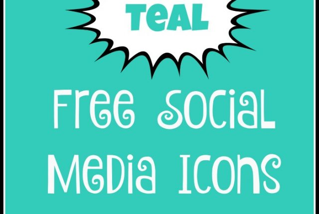 Free Social Media Icons - Teal | Mini Van Dreams