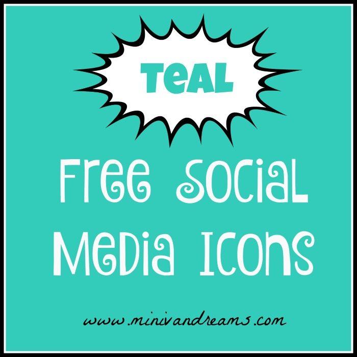 Free Teal Social Media Icons   Mini Van Dreams