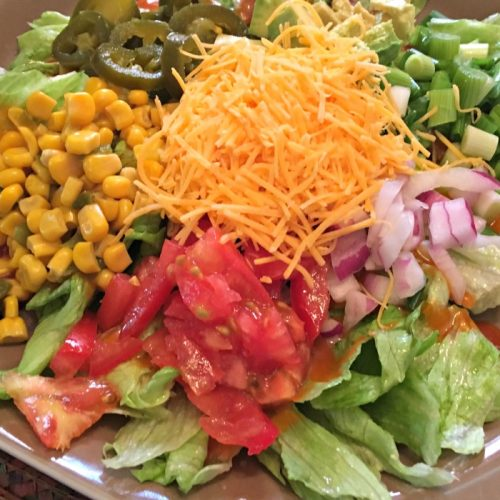 Chicken Fiesta Salad   Mini Van Dreams