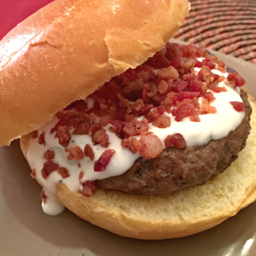 Bacon and Bleu Burger | Mini Van Dreams