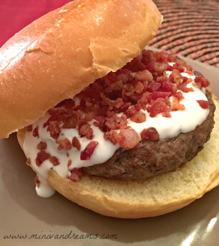 Bacon and Bleu Burger | Mini Van Dreams