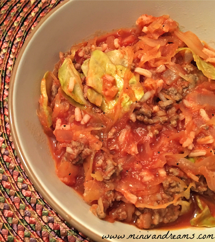 Cabbage Roll Casserole | Mini Van Dreams