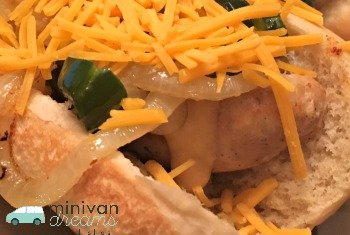 Philly Chicken Sausages | Mini Van Dreams