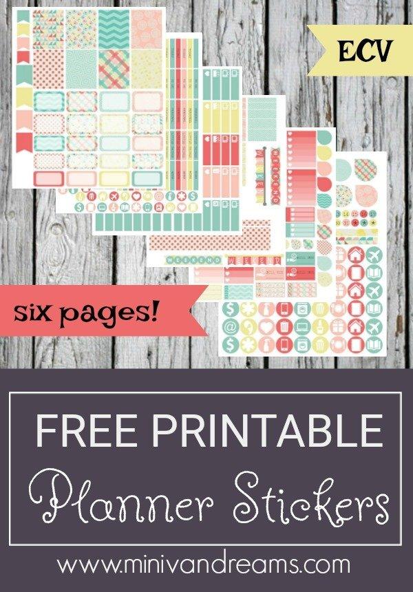 Free Printable Planner Stickers - Hot Summer Day   Mini Van Dreams