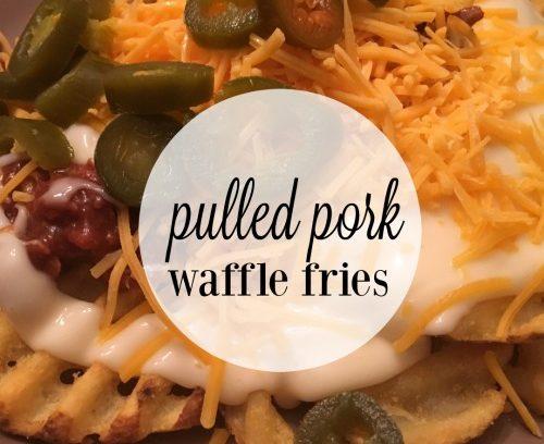 Pulled Pork Waffle Fries   Mini Van Dreams