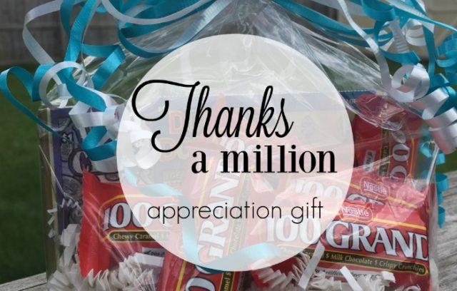 Thanks a Million Appreciation Gift | Mini Van Dreams