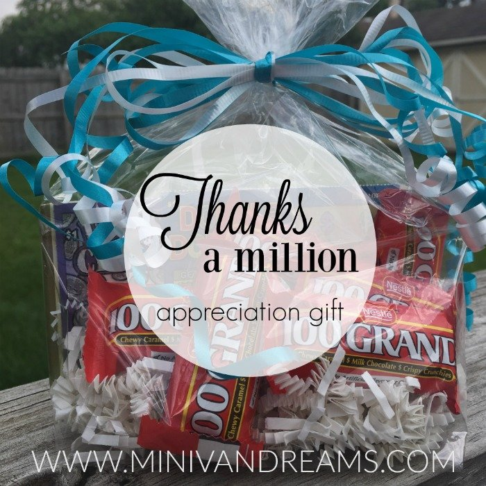 Thanks a Million Appreciation Gift | Mini Van Dreams