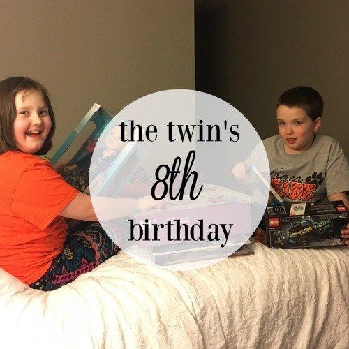 The Twin's 8th Birthday   Mini Van Dreams