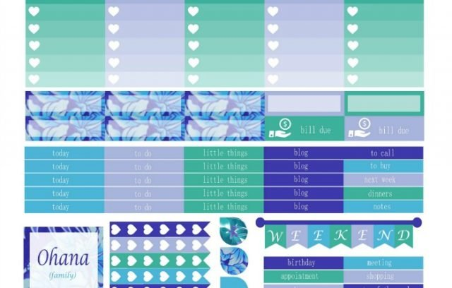 Free Printable Planner Stickers - Hawaiian Dreaming | Mini Van Dreams