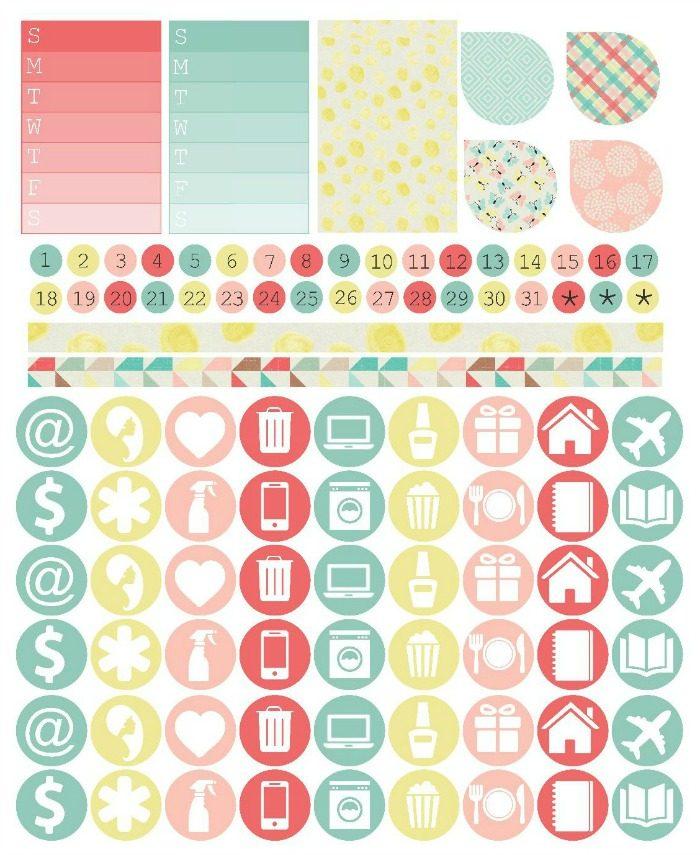 Free Planner Stickers   Mini Van Dreams